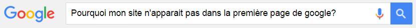 Pourquoi mon site n'apparait pas dans la première page de recherche Google?